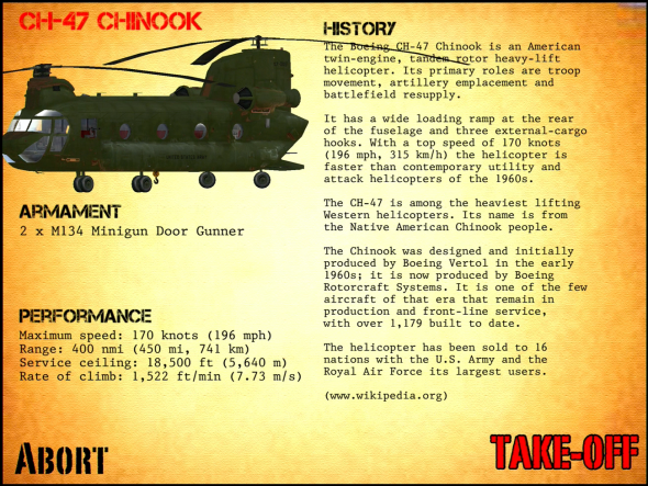 New chinook model with lots of details.